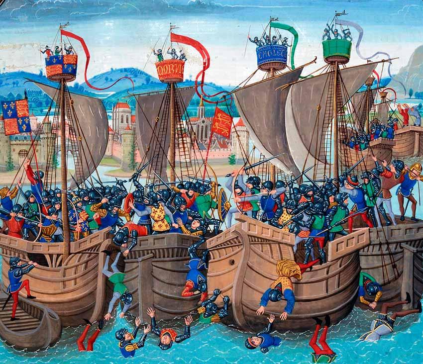 Combate naval en el siglo XIV