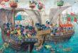 Batalla naval de la época medieval