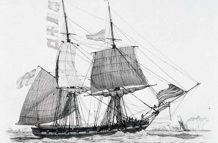 Bergantín britanico similar al apresado HMS Gibraltar