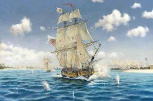 Bergantin Galveztown en la toma de Pensacola a los británicos en 1781
