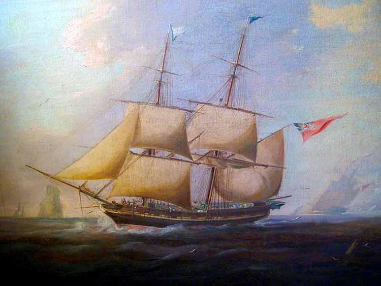 Bergantín similar al HMS Raposa
