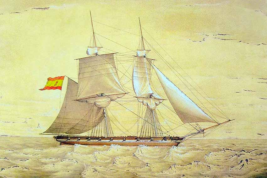 Bergantín Palomo, similar al bergantín San Antonio.
