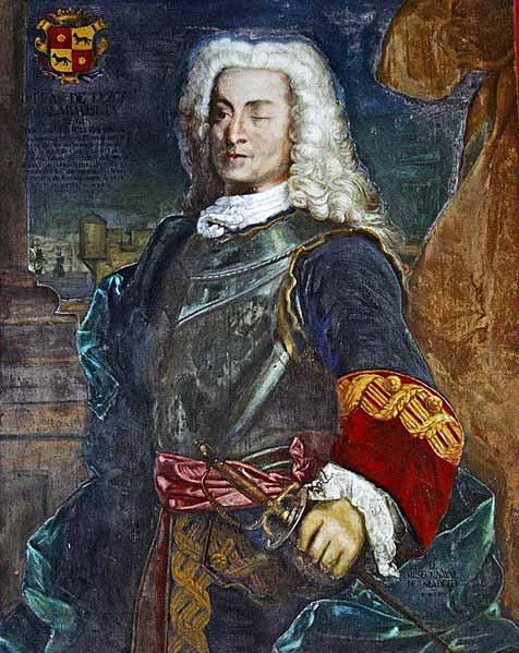 Retrato del almirante Blas de Lezo.