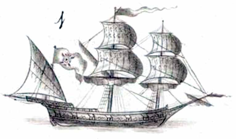 Polacra corsaria española nombrada el Conde del Asalto