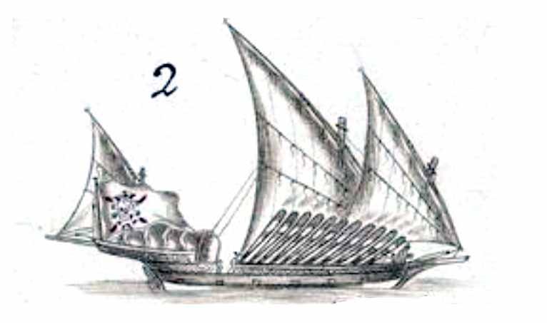 Galeota corsaria española nombrada el Conde del Asalto