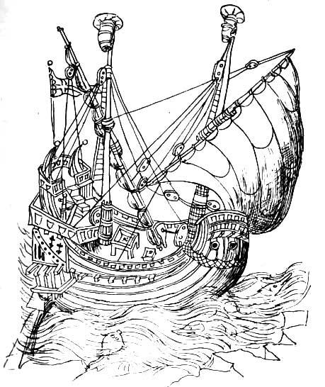 Nave española del siglo XIV