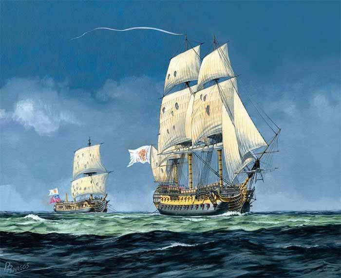 Buque británico apresado por un navio español