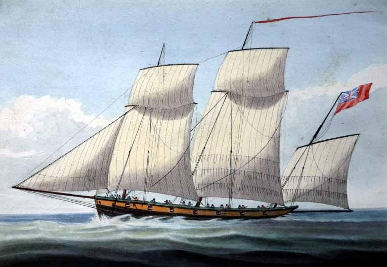 Lugre británico similar al apresado HMS Experiment