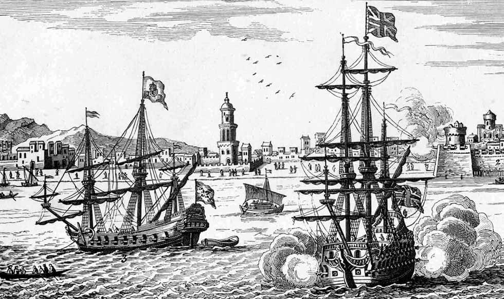 Buques británicos durante la Guerra de la Oreja de Jenkins o del Asiento.