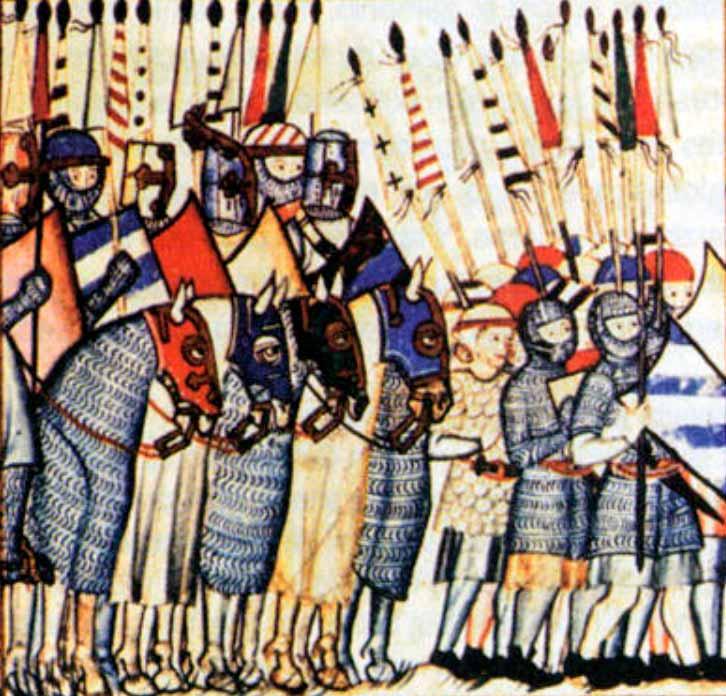 Caballería y soldados castellanos