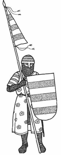 """Caballero peninsular basado en """"Las Cantigas de Santa María"""" y la """"Conquista de Mallorca"""". Por Ian Heath."""