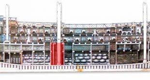 Caja de aguas de un navío español de 74 cañones. Imagen del Museo Naval de Madrid.