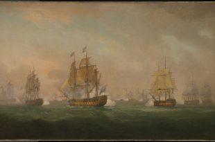 Acción del almirante Sir Robert Calder frente al cabo Finisterre, 22 de julio de 1805.