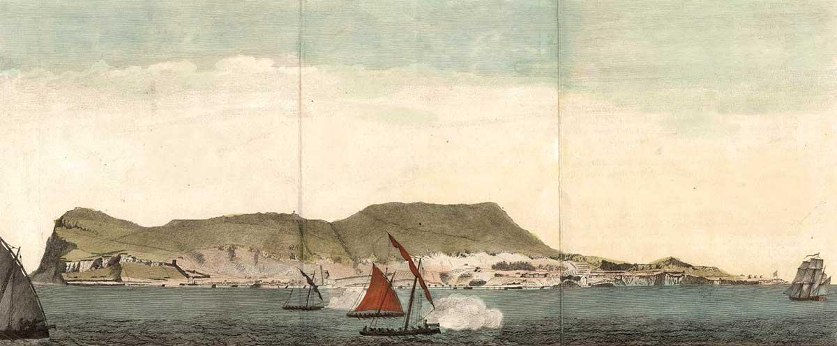 Lanchas cañoneras españolas durante el asedio de Gibraltar 1779-1782