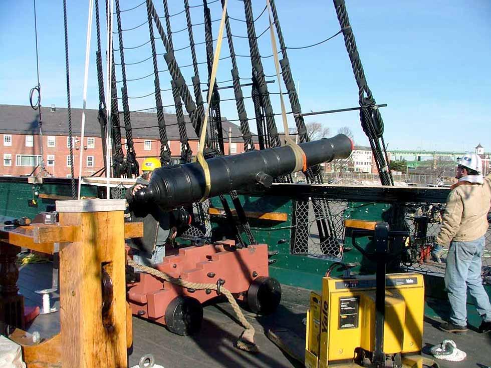 Cañón de 24 libras de la fragata USS Constitution