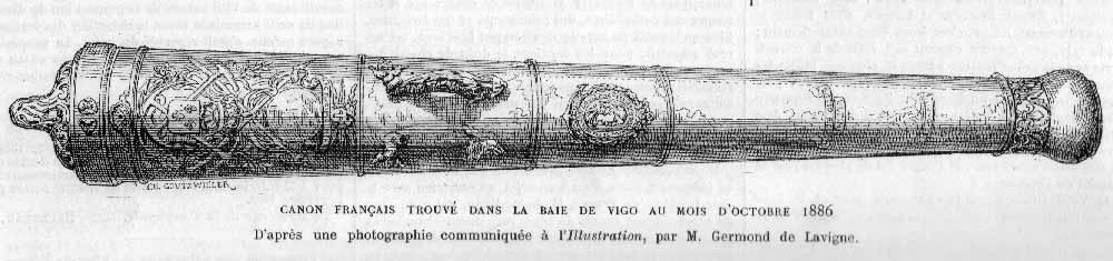 Cañón francés de bronce, recuperado en Rande en 1886