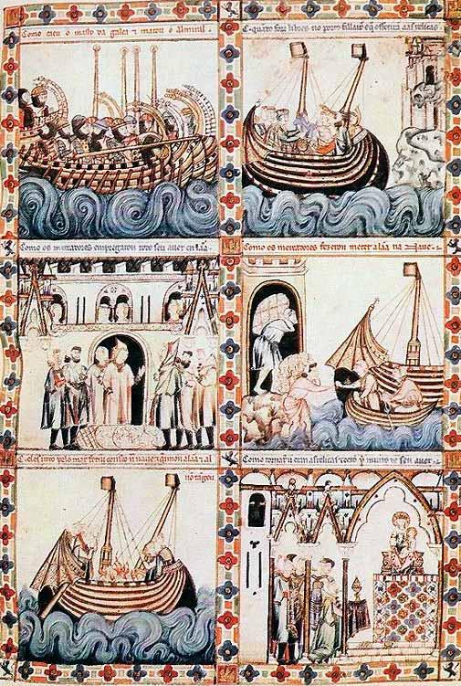 Escena 36 de las Cantigas de Alfonso X el Sabio