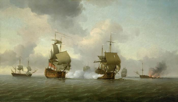 captura del navío Glorioso