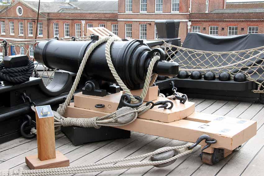 Carronada del HMS Victory