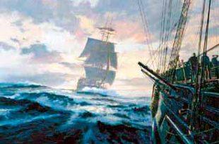 caza a otra embarcación