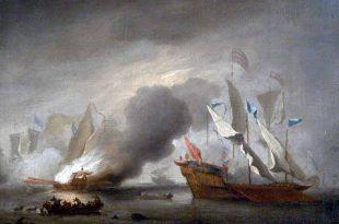 Combate naval parecido al que se dio entre las galeras de Biserta y Argel contra las de Álvaro de Bazán hijo.