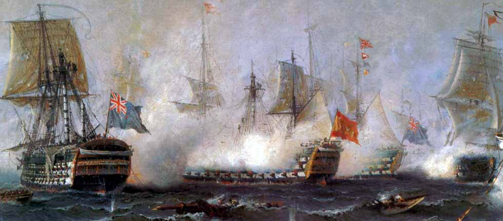 Combate del navío Santa Ana contra el británico Royal Sovereign