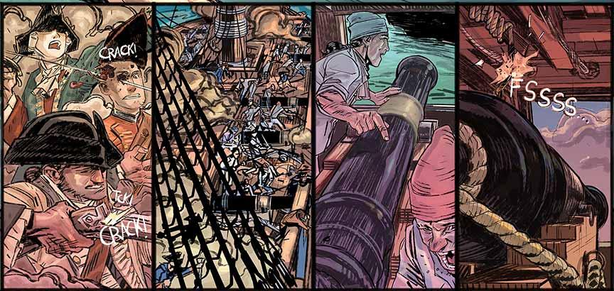 Cómic de la batalla de Cartagena de Indias de 1741 y el legendario Blas de Lezo