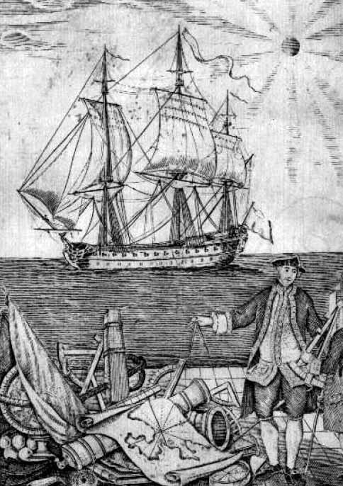 Ilustración del Tratado instructivo y práctico de maniobras navales para uso de los caballeros guardiamarinas. Agustín de Zuloaga. 1766
