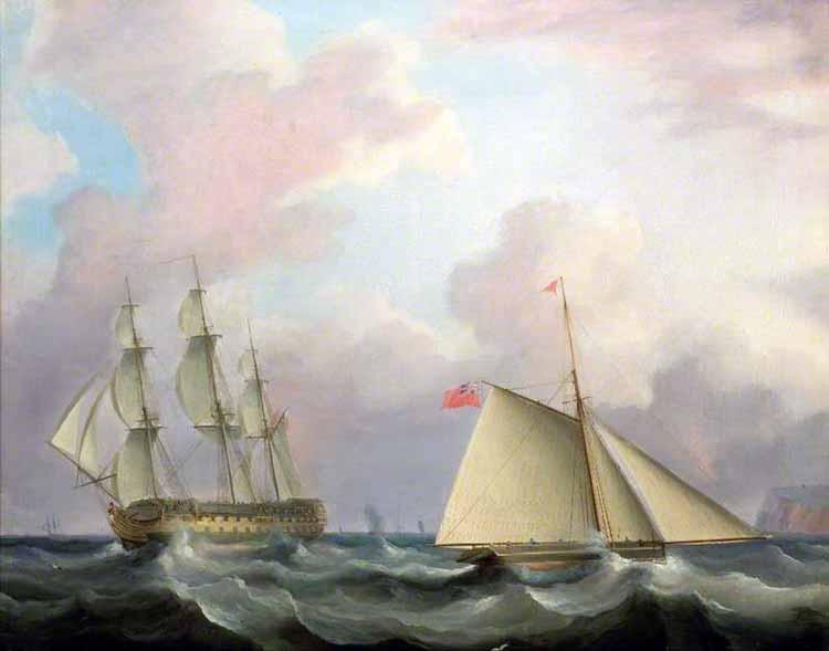 Cúter inglés similar al apresado HMS Peggy
