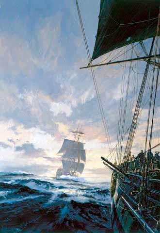 caza a una embarcación vita desde el buque cazado.