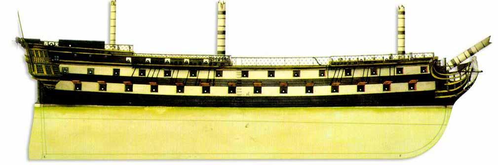 Dentro un navío de línea de 74 cañones