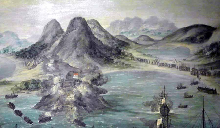 Desembarco de las tropas españolas en la Isla de San Martín