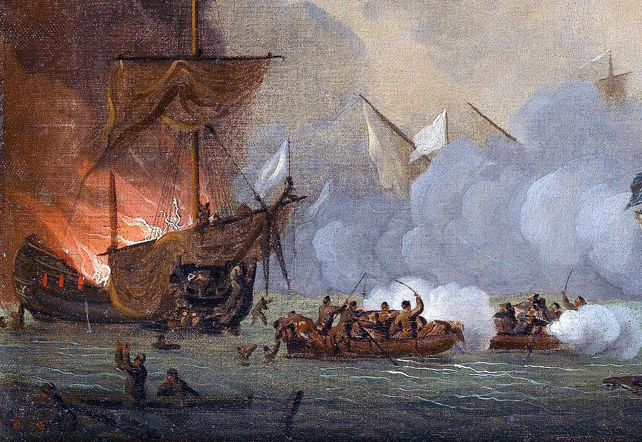 Destrucción de un navío argelino