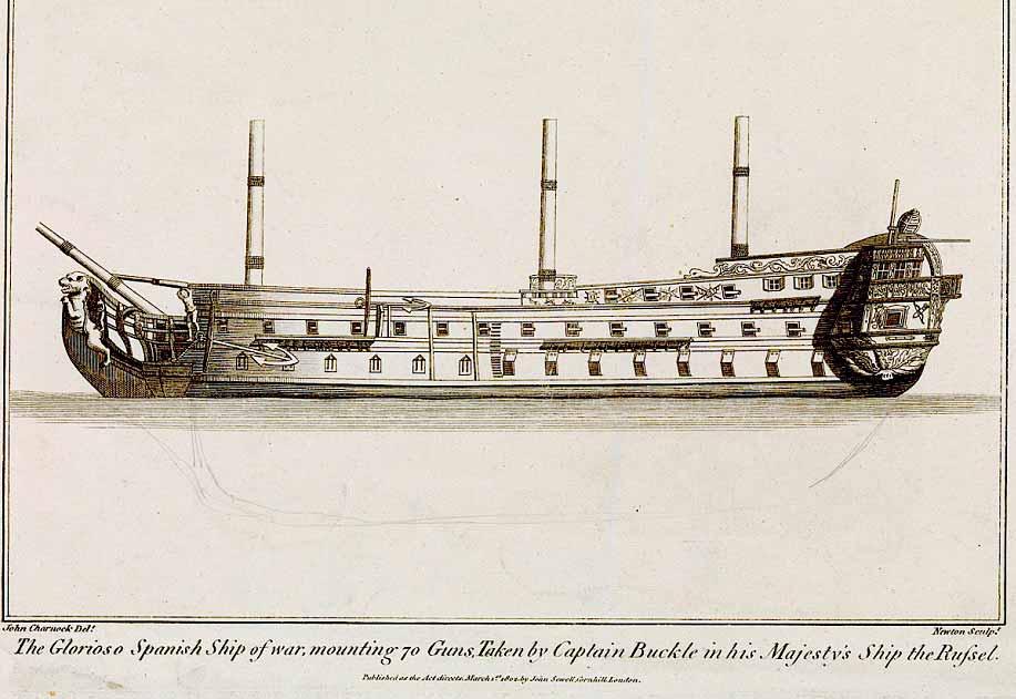Dibujo del navío Glorioso