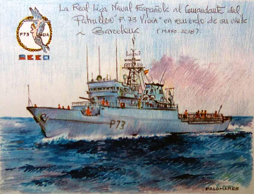 Dibujo del patrullero Vigía P-73