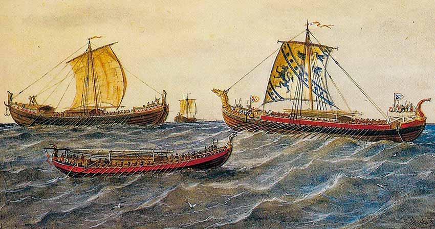 Diferentes tipos de embarcaciones vikingas