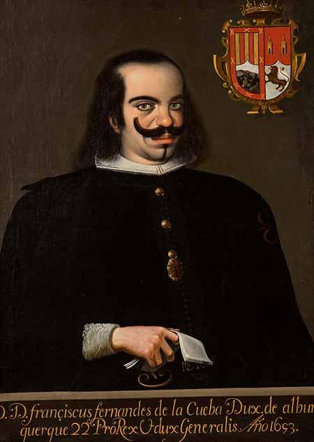 Francisco Fernández de la Cueva y Enríquez de Cabrera, cuarto duque de Alburquerque. Retrato de 1693