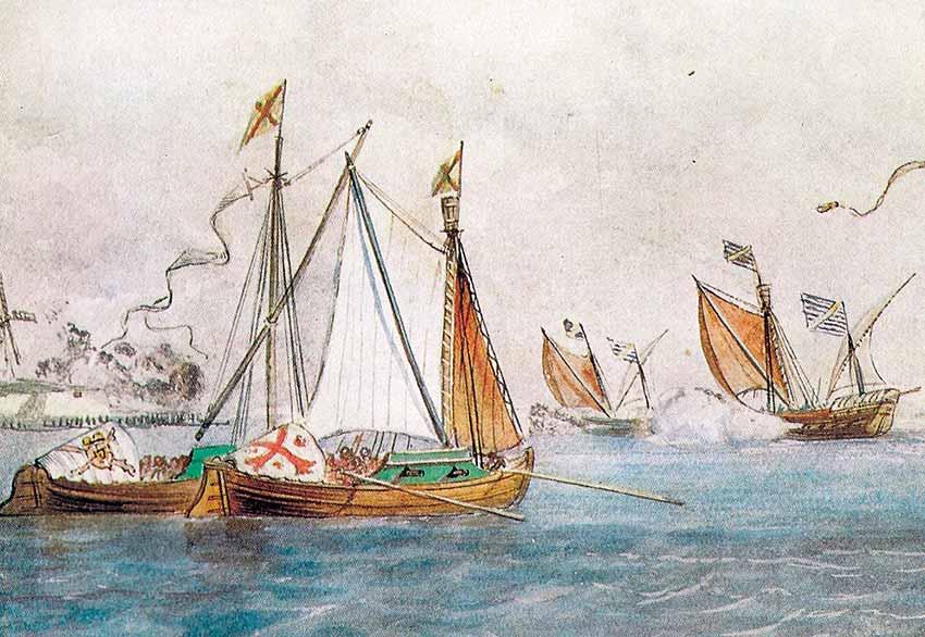 Embarcaciones de origen neerlandés en servicio de España y otras de los Países Bajos.
