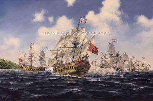 Enemigo Bátavo. Combate de galeones españoles contra holandeses