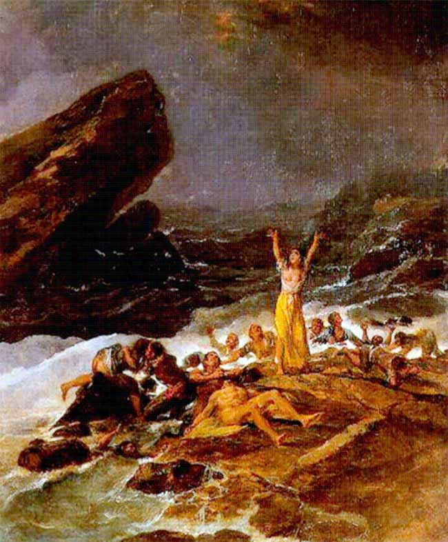 Francisco de Goya, Escena de naufragio (1793)