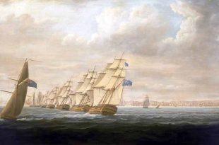 Escuadra británica bloqueando Cádiz