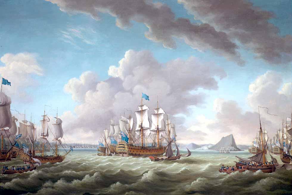 Escuadra británica de Howe en el Estrecho de Gibraltar