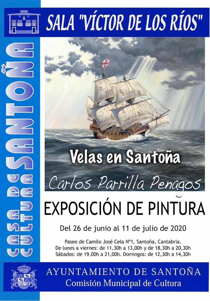 Exposición de pintura naval de Carlos Parrilla en Santoña junio-julio 2020
