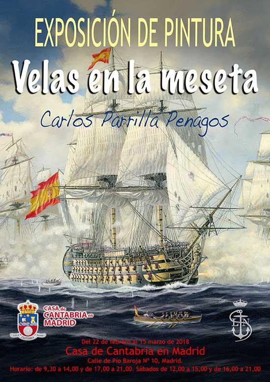 Exposición de pintura naval de Carlos Parrilla en Madrid