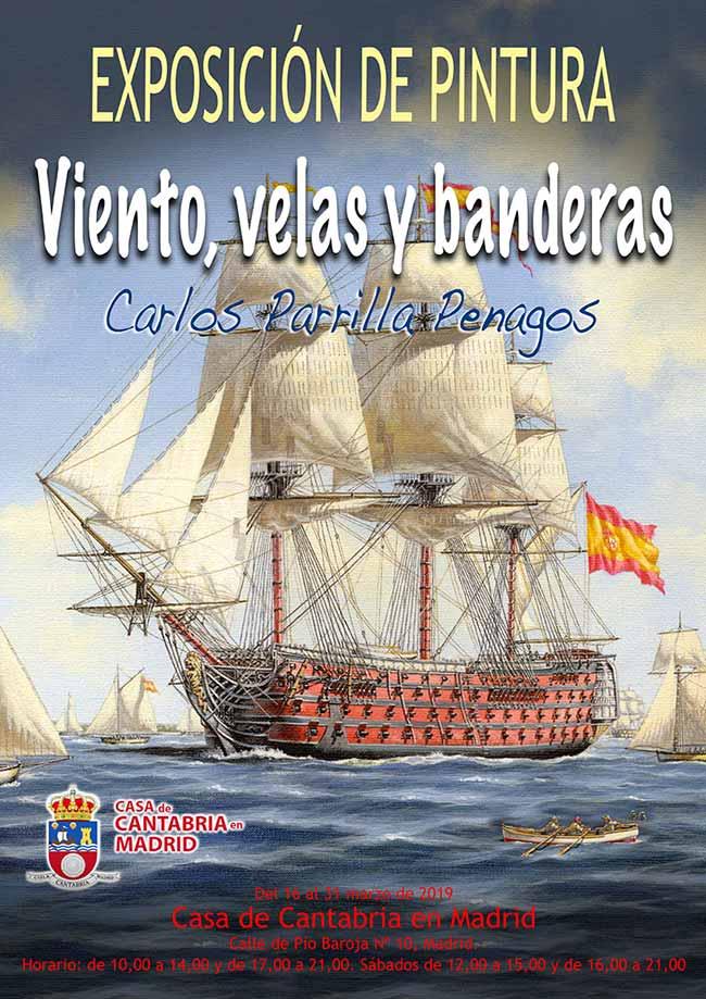 """Exposición de pintura """"Viento, velas y banderas"""", de Carlos Parrilla"""