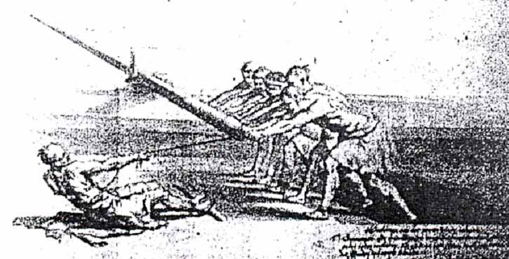Grabado de forzados. Principios del siglo XVII