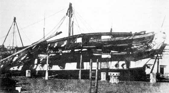Fotografía del navío San Jose en su servicio con los británicos
