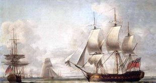 Fragata británica de 32 cañones similar a la HMS Lively