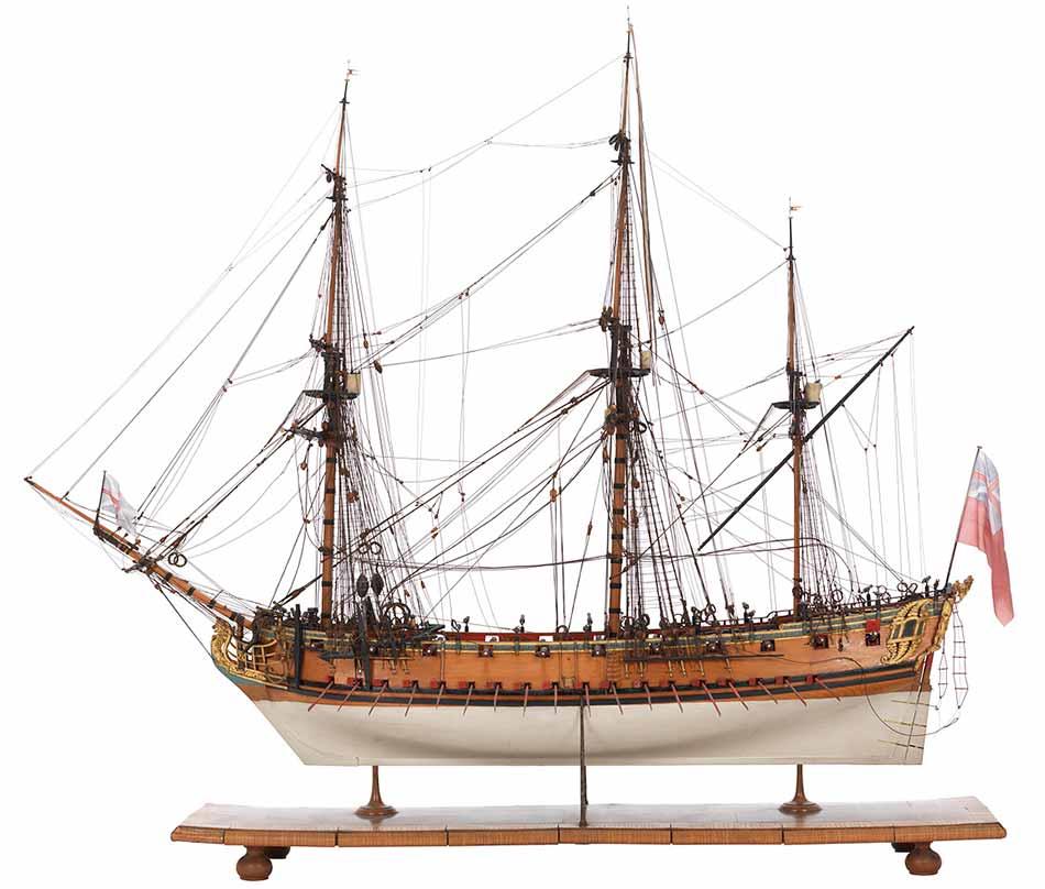 Esta fragata era muy similar a la HMS Greyhound de esta entrada.