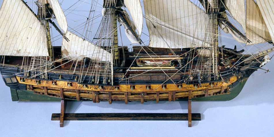 Modelo de la fragata Muiron